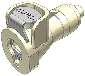 1/16 Hose Barb Non-Valved In-Line Coupling Body