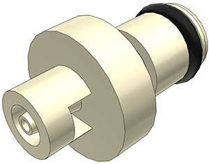 1/16 Hose Barb Non-Valved In-Line Coupling Insert