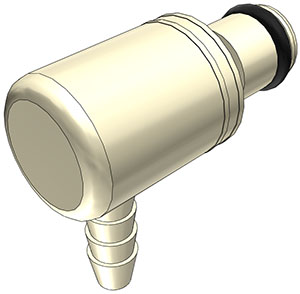 1/8 Hose Barb Non-Valved Elbow Coupling Insert