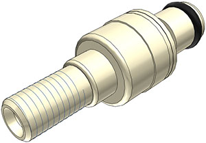 1/4-28 Flat Bottom Port Non-Valved In-Line Coupling Insert