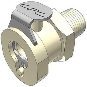 1/8 MBSPT Valved Coupling Body