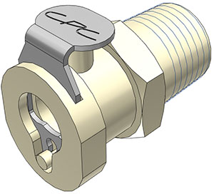 1/4 MBSPT Valved Coupling Body