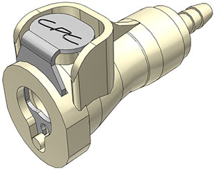 1/8 Hose Barb Valved In-Line Coupling Body