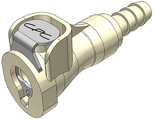 1/4 Hose Barb Valved In-Line Coupling Body