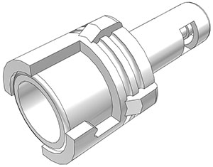 1/16 Hose Barb Valved In-Line Coupling Body