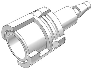 3mm Hose Barb Valved In-Line Coupling Body