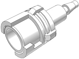 3mm Hose Barb Non-Valved In-Line Coupling Body