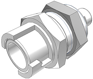1/16 Hose Barb Non-Valved Panel Mount Coupling Body