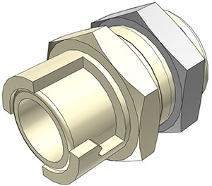 1/8 Hose Barb Non-Valved Panel Mount Coupling Body