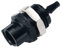 3mm Hose Barb Non-Valved Panel Mount Coupling Body