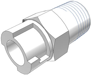 1/8 NPT Valved Coupling Body