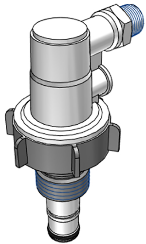 1/2 MNPT Elbow Coupler, with EPDM O-Rings and 316 Stainless Spring