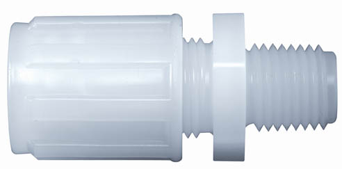 "3/8"" Flare X 1/4"" NPT PVDF Male Connector"