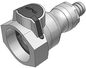 1/2 Hose Barb Valved Coupling Body FDA EPDM O-Ring (UDC)