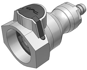 3/8 Hose Barb Valved Coupling Body FDA EPDM O-Ring (UDC) - NSF
